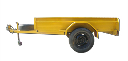 7x5 Single Axle Box Trailer